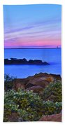 Blue Sunset Beach Towel by Frozen in Time Fine Art Photography