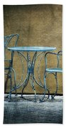 Blue Table And Chairs Beach Towel