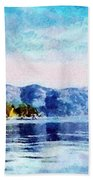 Blue Tahoe Beach Towel