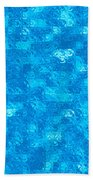 Blue Tiles Beach Towel