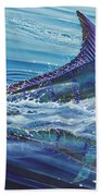 Blue Tranquility Off0051 Beach Towel by Carey Chen