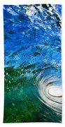 Blue Tube Beach Towel