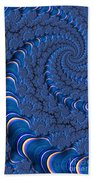 Blue Tubes Beach Towel
