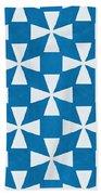 Blue Twirl Beach Towel