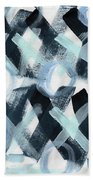 Blue Valentine- Abstract Painting Beach Towel by Linda Woods