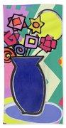 Blue Vase Beach Towel by Bodel Rikys