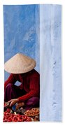 Blue Wall Hawker 02 Beach Towel