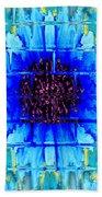 Blue Wallflower Abstract Beach Towel