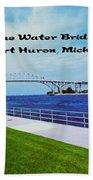 Blue Water Bridge Beach Towel