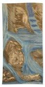 Blue Water Dancing  Beach Towel