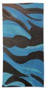 Blue Waves Of Healing Beach Towel