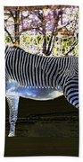 Blue Zebra Beach Towel