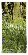 Bluebells And Greater Stitchwort Spring  Boot Eskdale Cumbria England Beach Towel