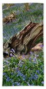 Bluebells At Bransdale Beach Towel