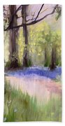 Bluebells At Dusk Beach Towel