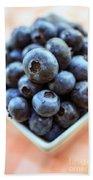 Blueberries Closeup Beach Towel