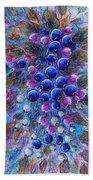 Blueberries Beach Towel