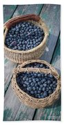 Blueberry Baskets Beach Towel