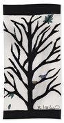 Bluebird In A Pear Tree Beach Towel