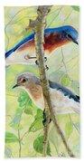Bluebird Pair Beach Towel