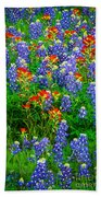 Bluebonnet Patch Beach Towel by Inge Johnsson