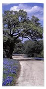 Bluebonnet Road Beach Towel