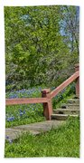 Bluebonnets And Stairs Beach Towel