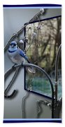 Bluejay Oob - Featured In 'out Of Frame' And Comfortable Art Groups Beach Towel