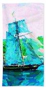 Bluenose Schooner In Halifax Beach Towel