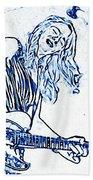 Blues In Blue Beach Towel