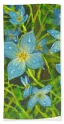 Bluets Of The Shenandoah  Beach Towel