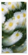 Blurred Daisies Beach Towel