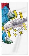 Bmx Drawing Peg Grind Beach Towel