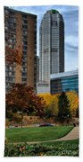 Bny Mellon From Duquesne University Campus Hdr Beach Towel