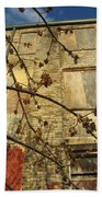Boarded Windows And Branches Beach Towel