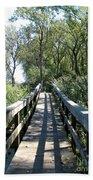 Boardwalk At Tifft Nature Preserve Buffalo New York Beach Towel