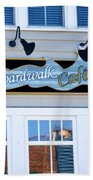 Boardwalk Cafe Beach Towel