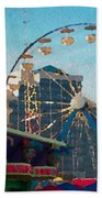 Boardwalk Ferris  Beach Towel