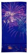 Boardwalk Fireworks Beach Towel