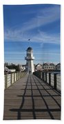 Boardwalk Lighthouse Beach Towel