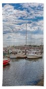 Boat - Baltimore Md - One Fine Day In Baltimore  Beach Towel