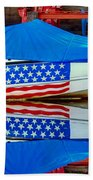 Boat For Freedom  Beach Towel