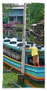 Boat For Transportation On Canals In Bangkok-thailand Beach Towel