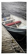 Boat In Fog Beach Towel by Elena Elisseeva