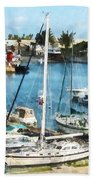 Boat - King's Wharf Bermuda Beach Towel