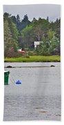 Boat On Cove In Glen Margaret-ns  Beach Towel