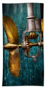 Boat - Propulsion  Beach Towel by Mike Savad