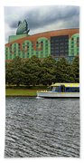 Boat Ride Past The Swan Resort Walt Disney World Beach Towel