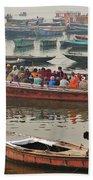 The Journey - Varanasi India Beach Towel