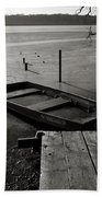 Boat In Ice - Lake Wingra - Madison - Wi Beach Sheet